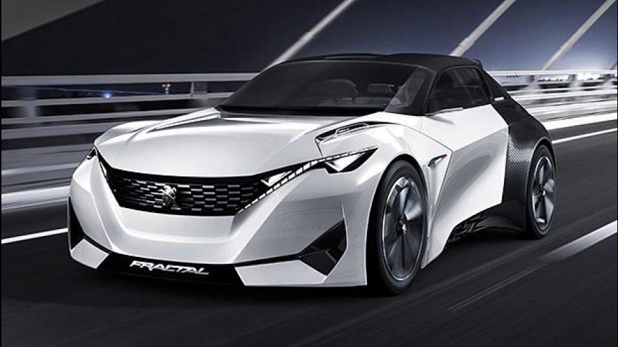 Peugeot Fractal, la coupé elettrica che suona bene