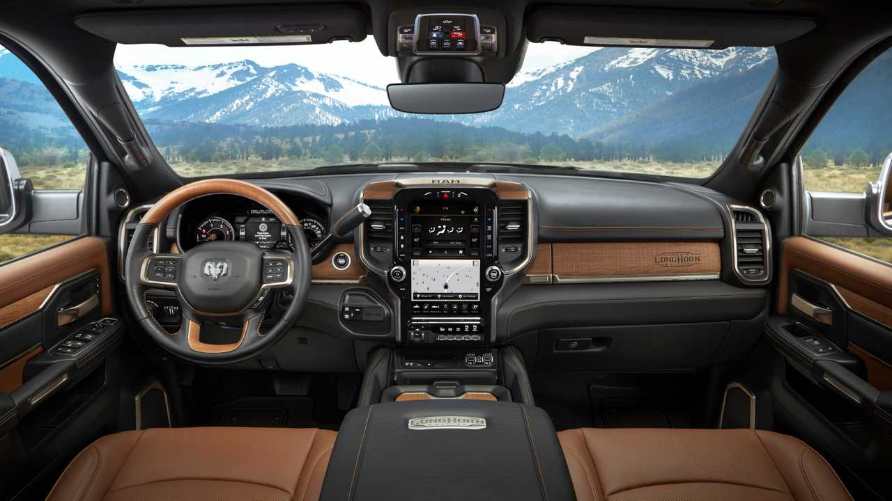 2019 ram hd laramie longhorn is a leather wrapped workhorse - Dodge ram 2500 laramie longhorn interior ...