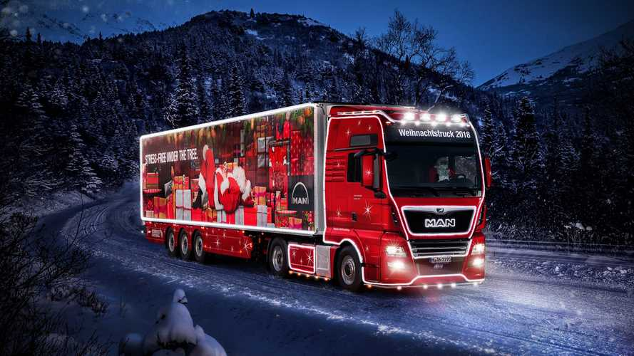 Il MAN TGX si trasforma nella slitta di Babbo Natale