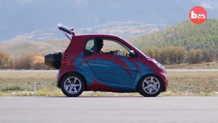 Someone put a jet engine into a Smart ForTwo