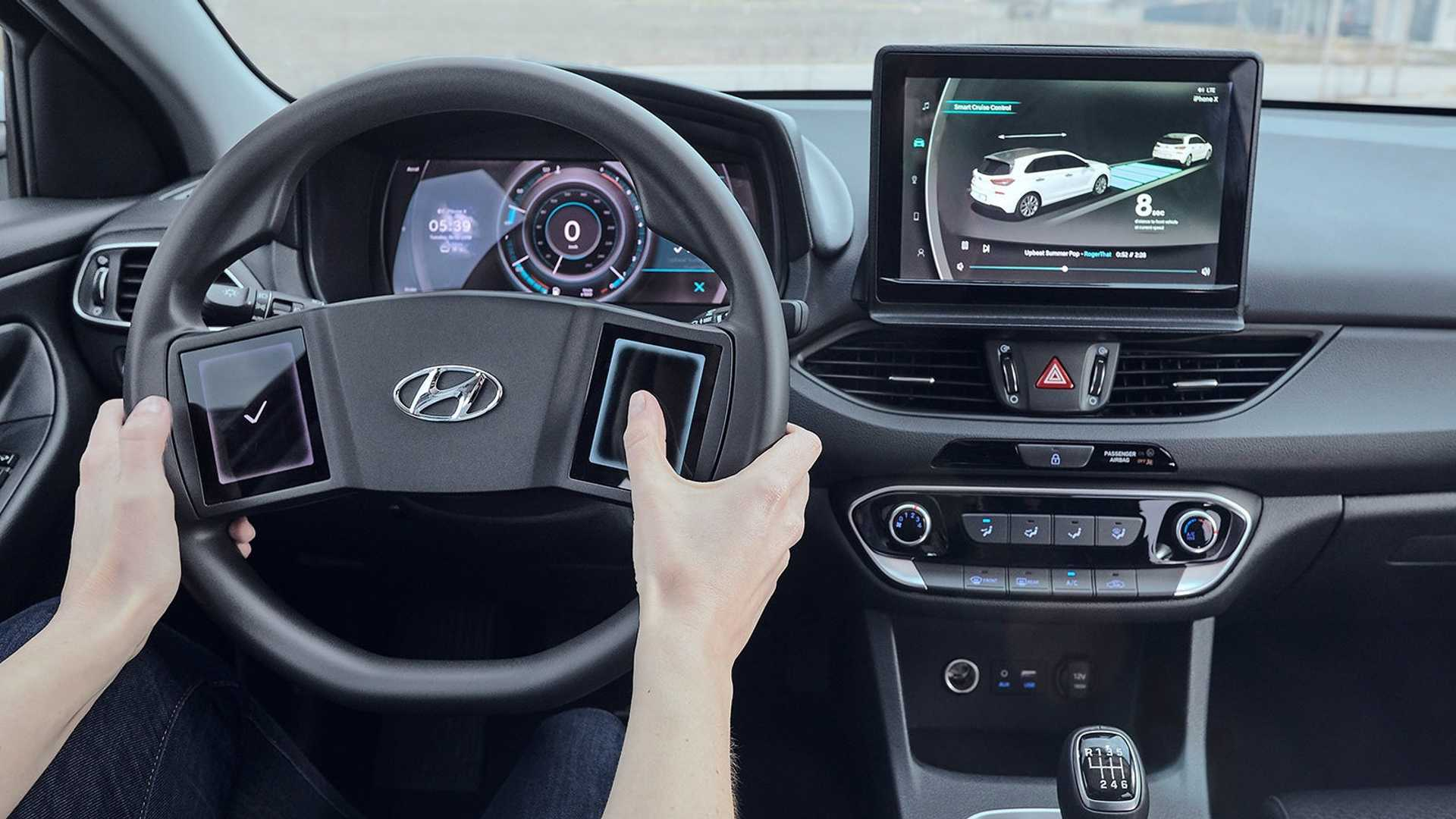Hyundai Thinks Steering Wheel Touchscreens Are A Good Idea
