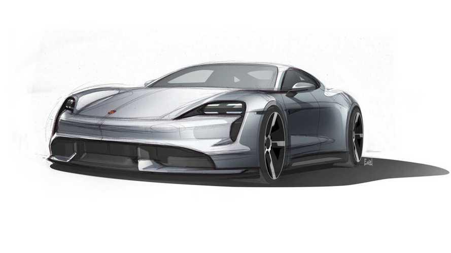 Porsche montre la Taycan, mais en dessin seulement...