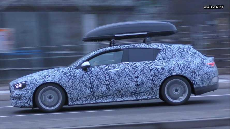 New Mercedes CLA Shooting Brake spotted carrying roof box