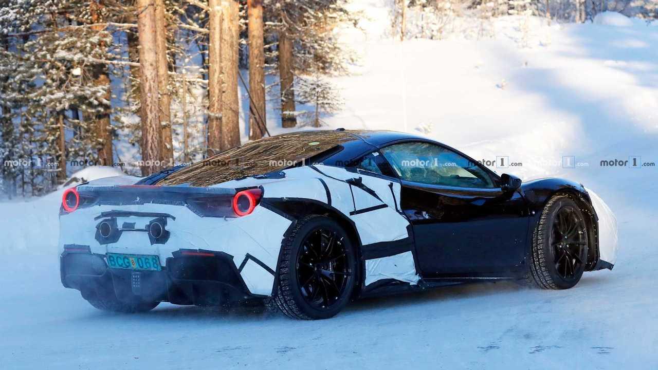 Ferrari Hybrid Test Mule Spy Shot
