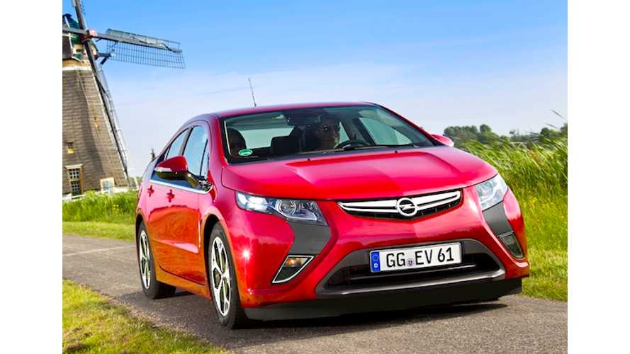 Opel Ampera is Europe's Best Selling Electric Vehicle