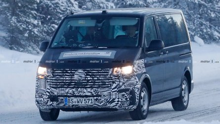 VW Transporter Facelift Spied With Bigger Grille