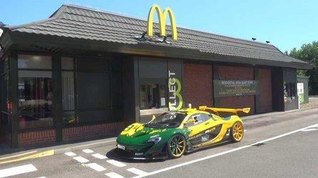 Watch road-legal McLaren P1 GTR grab a bite at McDonald's