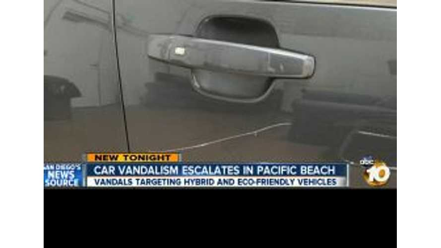 Video: Vandals Targeting Hybrids and EVs in La Jolla, California