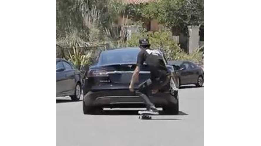 Video: Tony Hawk Finds Unique Use for Tesla Model S Backup Camera