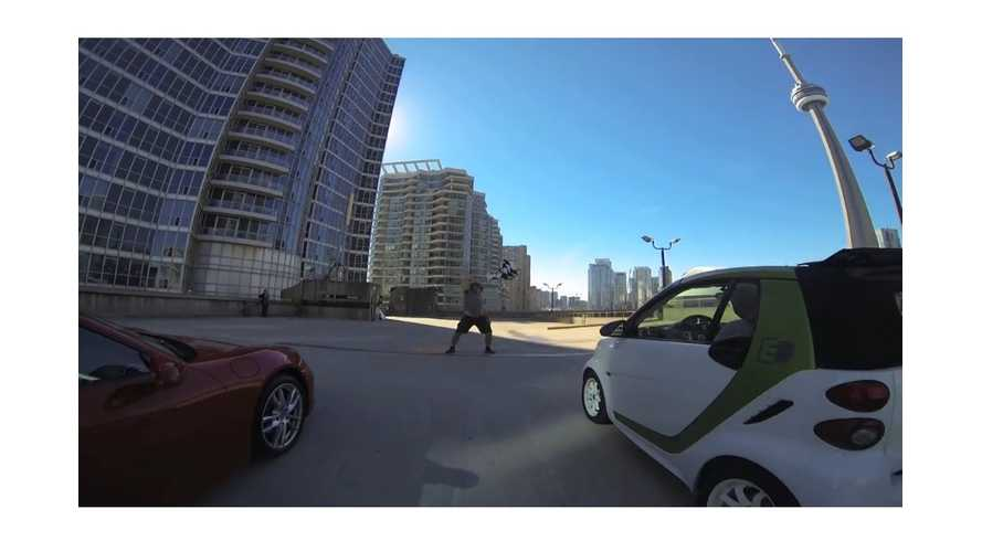 Video: Smart For Two Electric Drive Takes On Olympic Sprinter and Sports Car