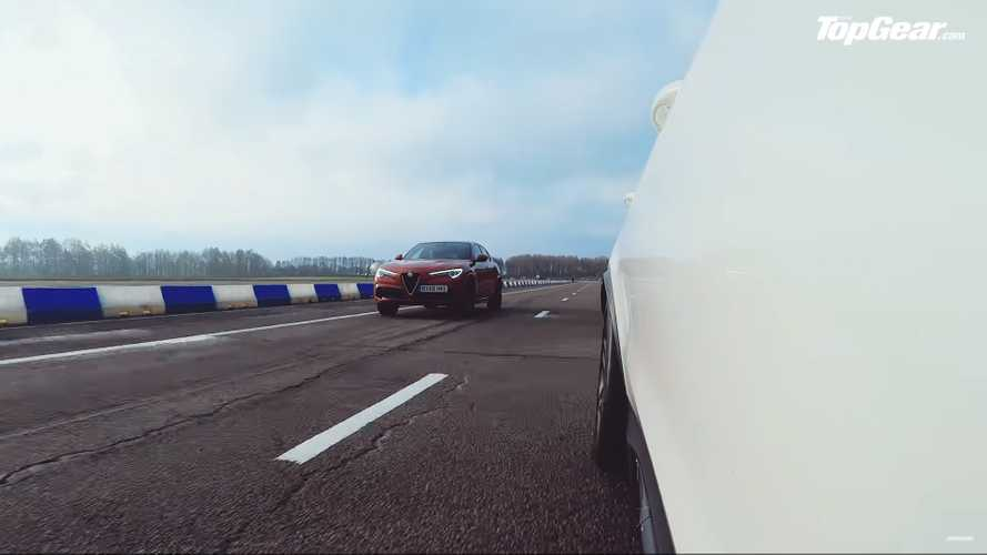 Mercedes-AMG GLC 63 ile Alfa Romeo Stelvio Quadrifoglio'nun Drag Yarışı