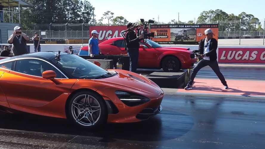Modifiyeli Dodge Demon ve McLaren 720S drag yarışında