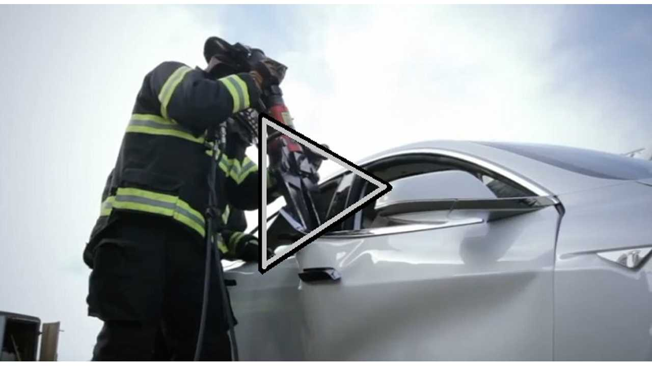 Video: Emergency Response To EVs, Featuring The Tesla Model S...Which Gets Destroyed