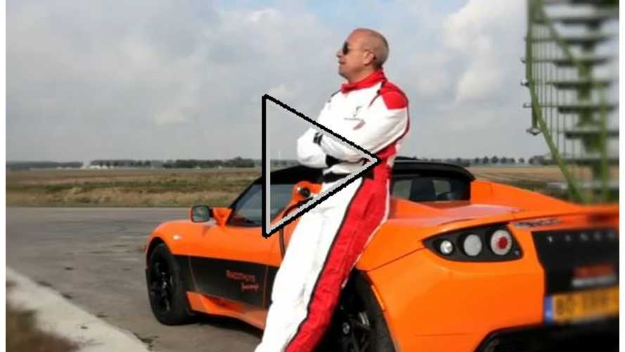Video: Tesla Roadster Driven Maniacally by Holland's Fastest Man