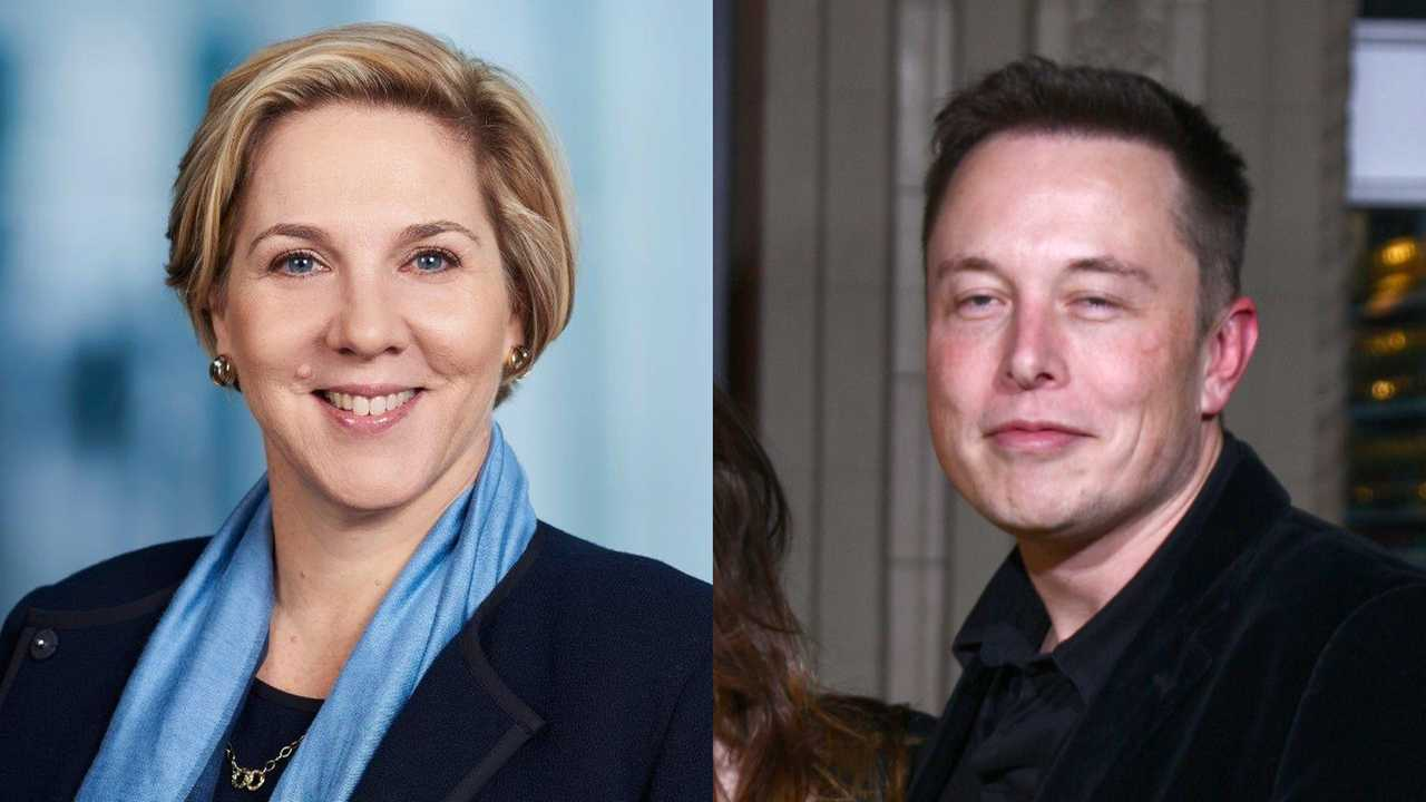 Robyn Denholm and Elon Musk collage
