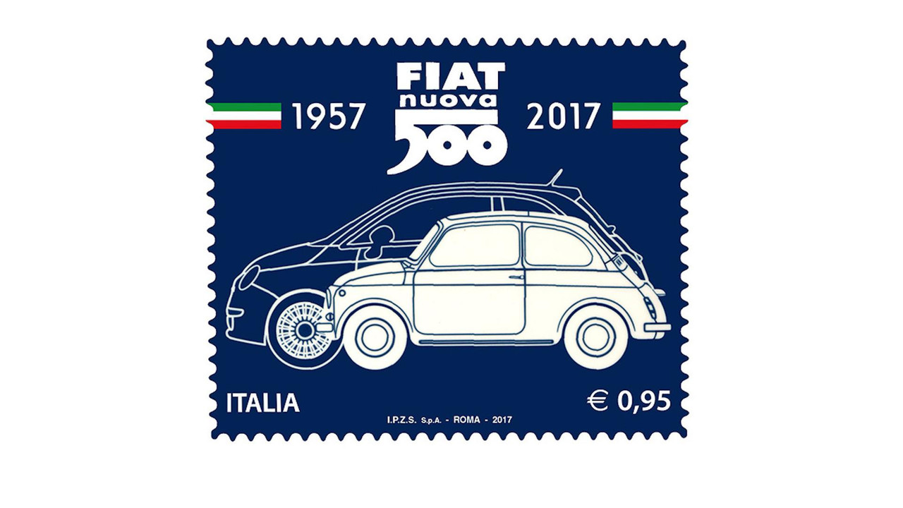 Fiat 500 Commemorative Stamps