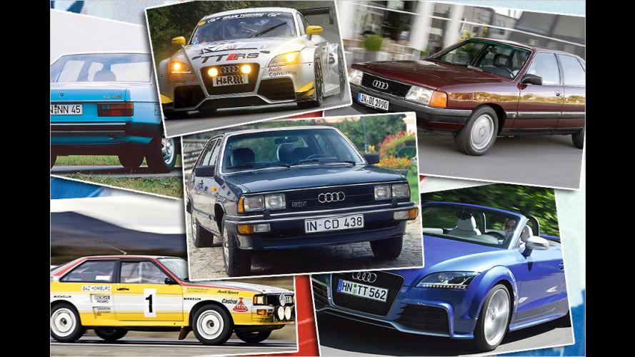 Vom Audi 100 bis zum TT RS