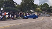 Mustang wreck Cars and Coffee Houston