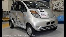 Tata Nano é aprovado com 4 estrelas em crash test no Reino Unido
