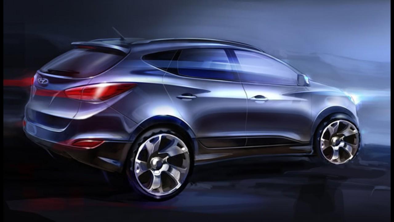 """Hyundai divulga novas imagens oficiais do novo """"Tucson"""" ix35"""