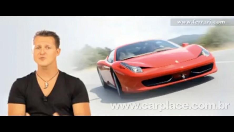VÍDEO: Michael Schumacher fala sobre a performance da Nova Ferrari 458 Italia