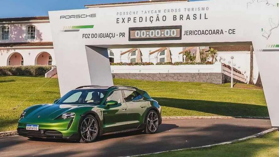 Porsche Taycan Cross Turismo inicia expedição pelo Brasil