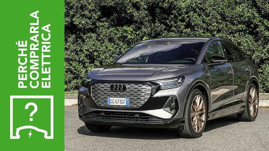 Audi Q4 e-tron (2021), perché comprarla elettrica e perché no