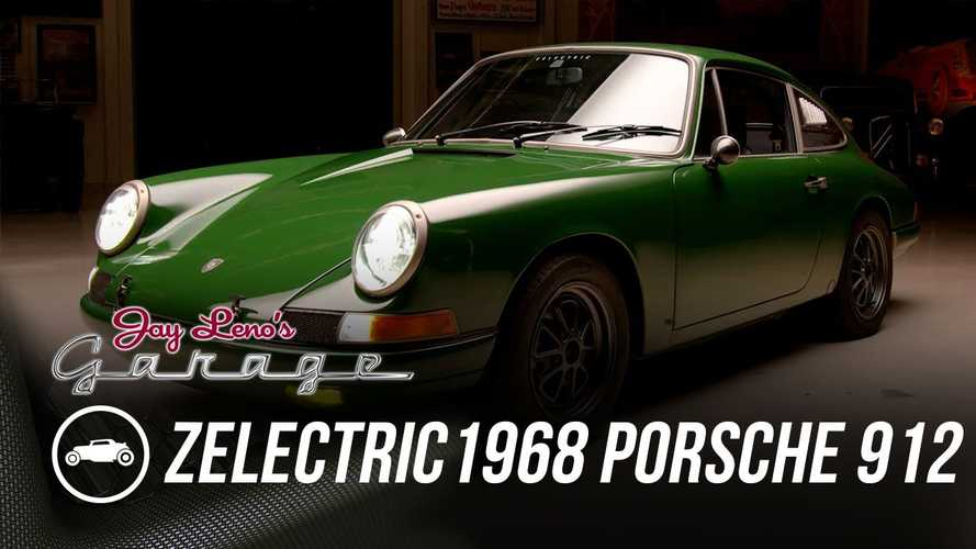 Jay Leno Drives A Tesla-Swapped Classic Porsche 912 By Zelectric
