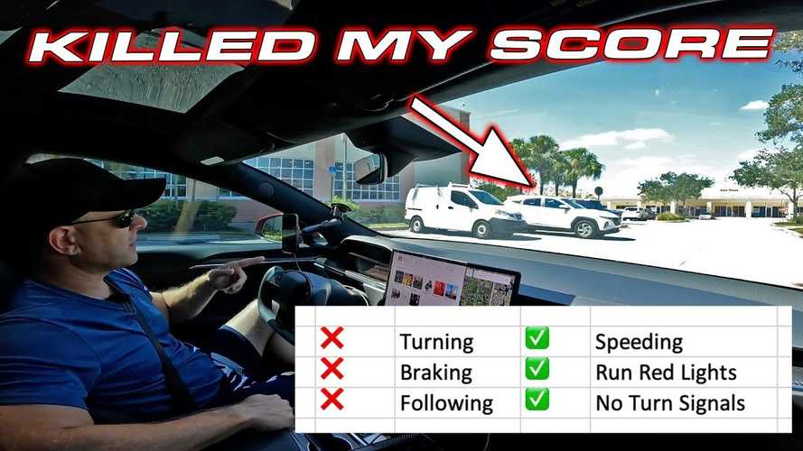 Tesla Safety Score: Speed, Ignore Red Lights, But Don't Brake!