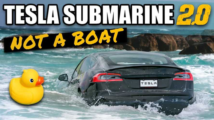 This Tesla Model S Plaid Drove Underwater, Lived To Tell The Tale