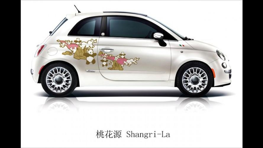 """Mit Panda-Dekor: Fiat 500 startet in China als ,First Edition"""""""