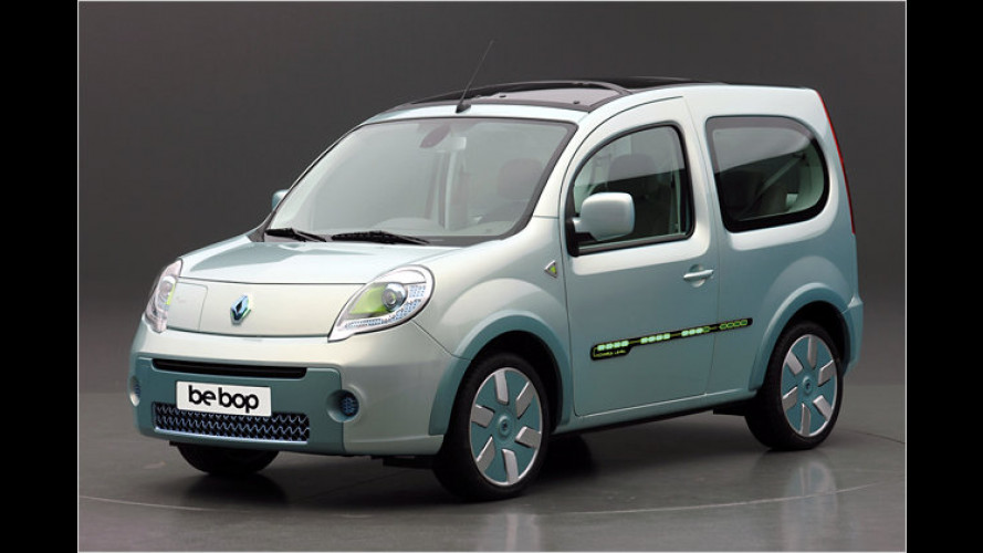 Kangoo be bop Z.E.: Renault zeigt seriennahes E-Fahrzeug