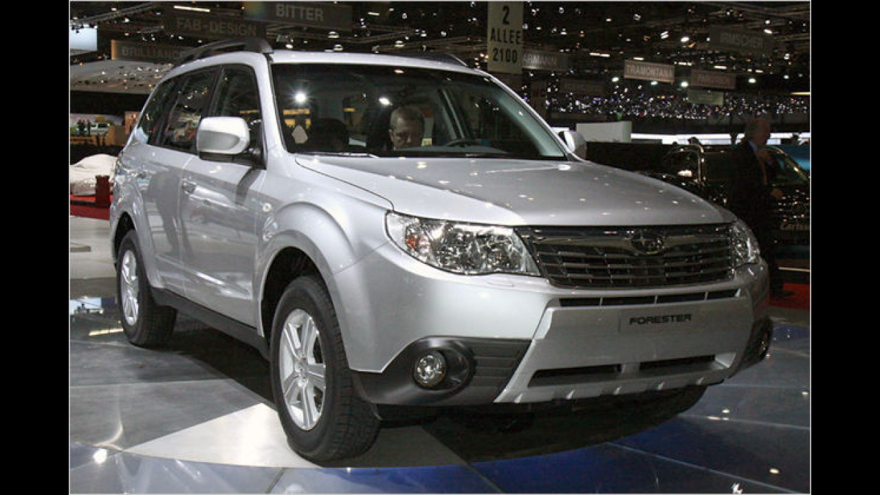 Mit einem veränderten Äußeren präsentiert sich der neue Subaru Forester