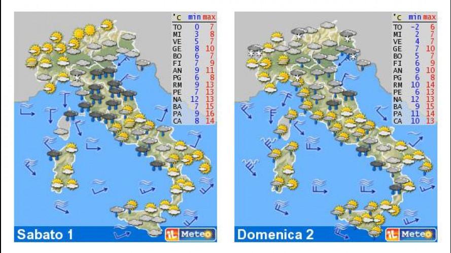 Il meteo del fine settimana 1-2 dicembre: con Medusa sull'Italia è rischio neve