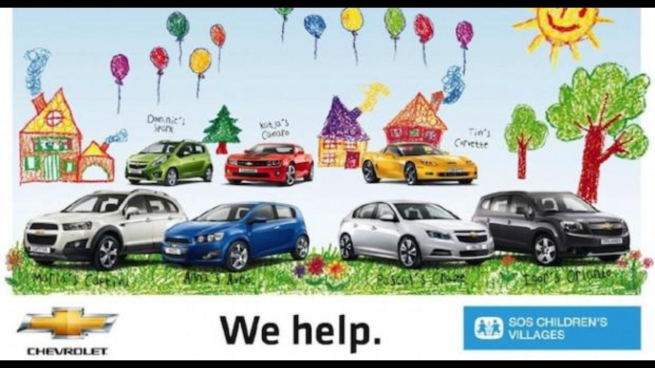 [Copertina] - Dona online 3 euro per SOS Villaggi dei Bambini e vinci un viaggio in Chevrolet Volt