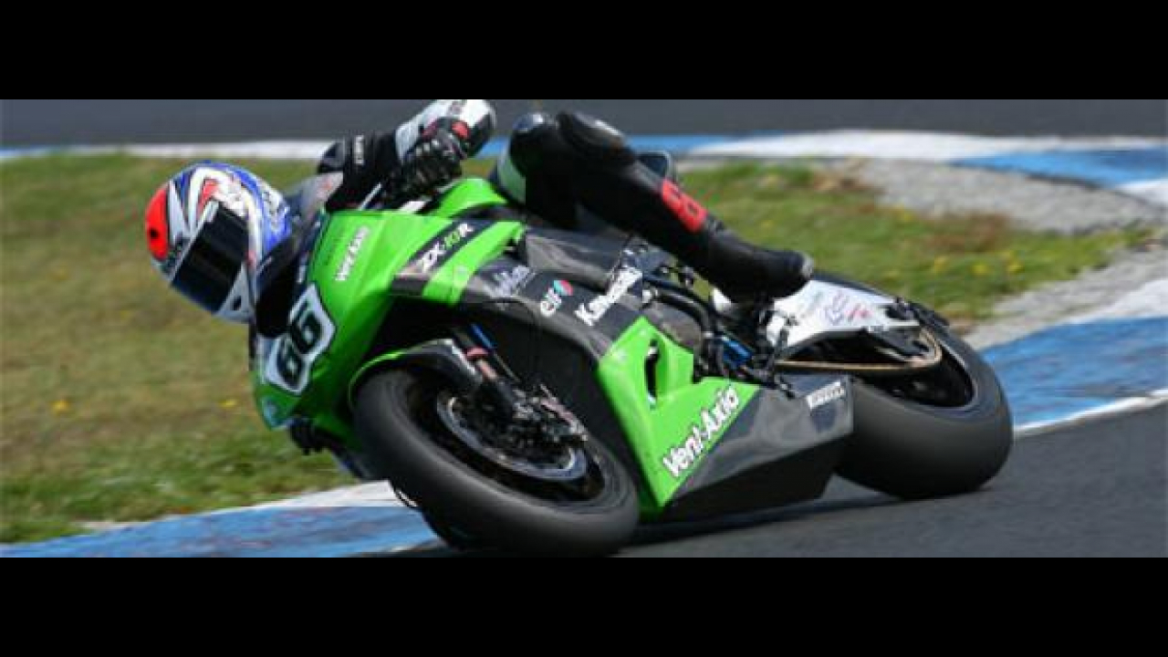 WSBK 2010, Phillip Island Test: Kawasaki a 1.2 secondi