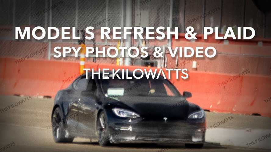 Refreshed Tesla Model S Spotted Testing: Or Is It Plaid? See It Here