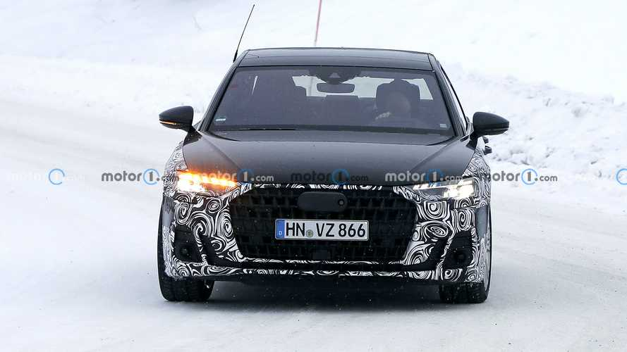 2022 Audi A8 facelift new spy photos