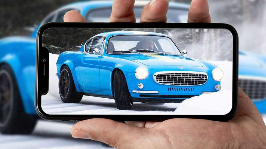 Amate le auto classiche in drift? Ecco una Volvo P1800 sulla neve