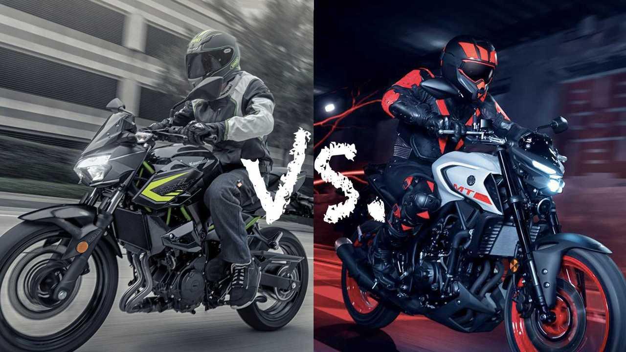Spec Showdown: Yamaha MT-03 vs Kawasaki Z400 Main