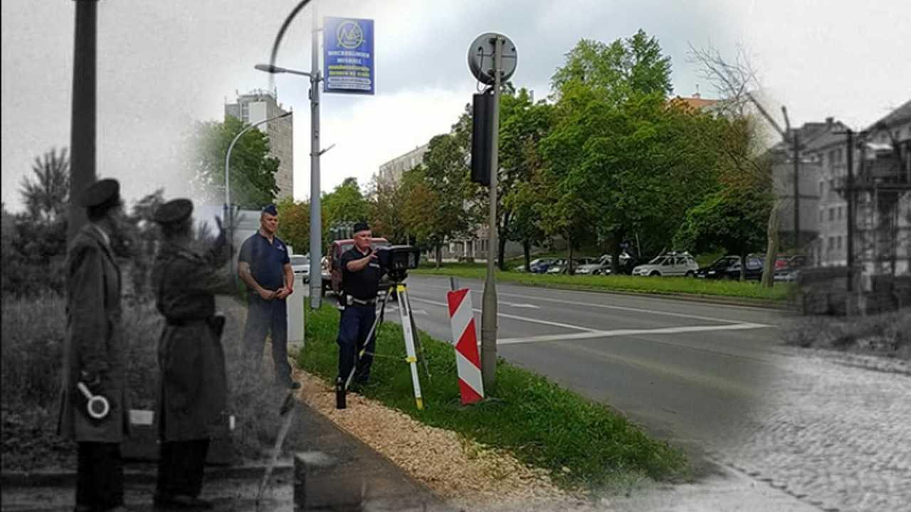 Sebességet mérő rendőrök