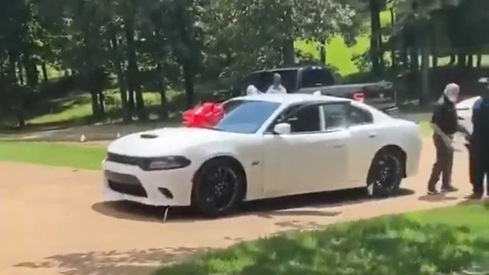 Watch NBA Star Ja Morant Surprise His Dad With A Dodge Charger Hellcat