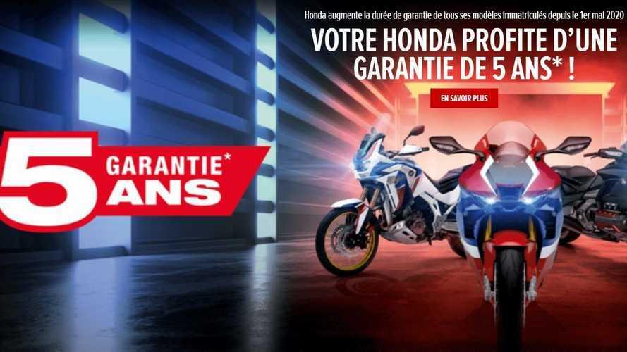Honda Moto France garantit ses motos 5 ans