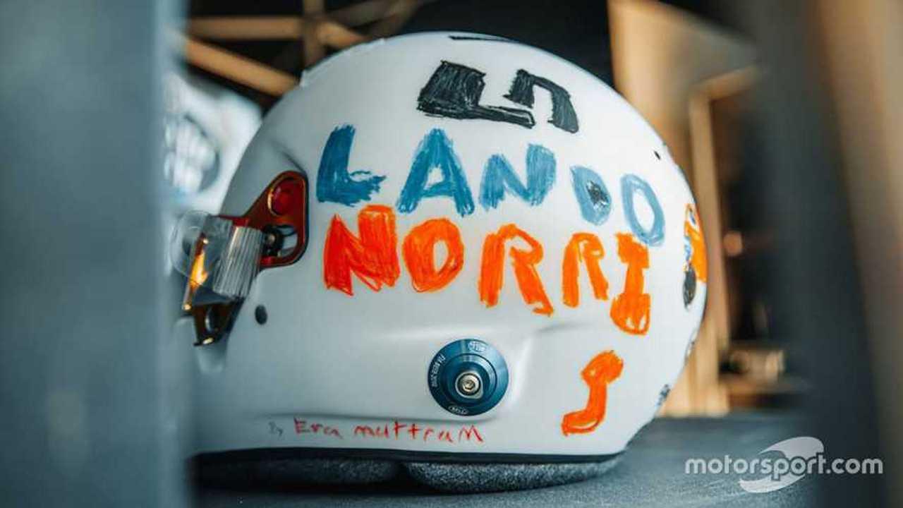 Lando Norris hemet design at British GP 2020