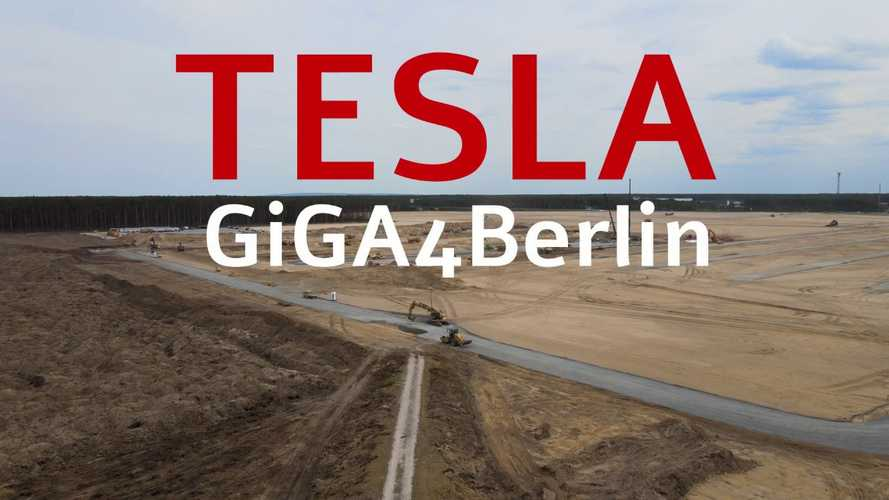 Tesla Gigafactory 4 Construction Progress: First Concrete Rectangles