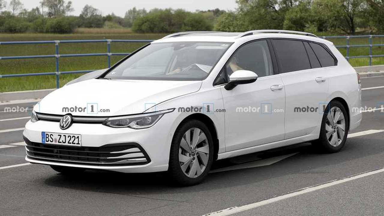 2021 VW Golf Variant új kém fotó
