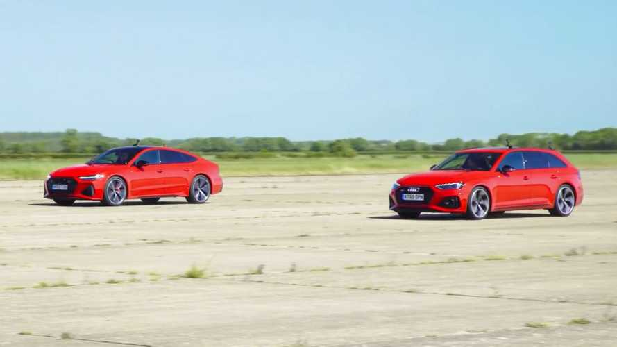 Audi RS4 Avant Drag Races RS7 Sportback In Sibling Rivalry