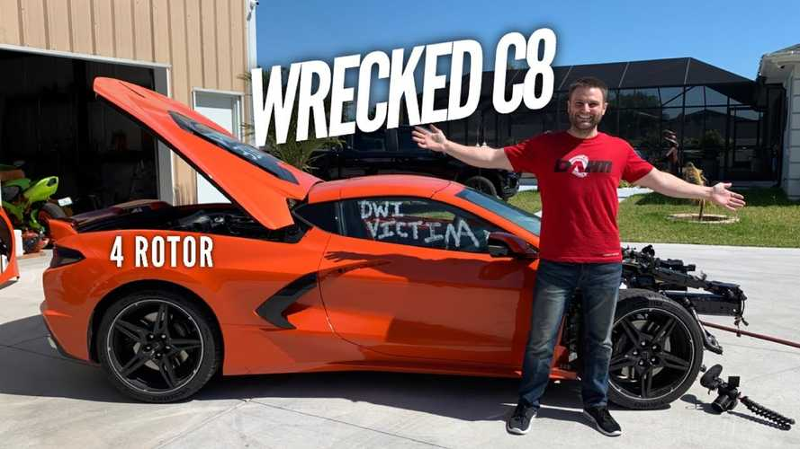 Wrecked Corvette C8 To Be Resurrected With Four-Rotor Setup