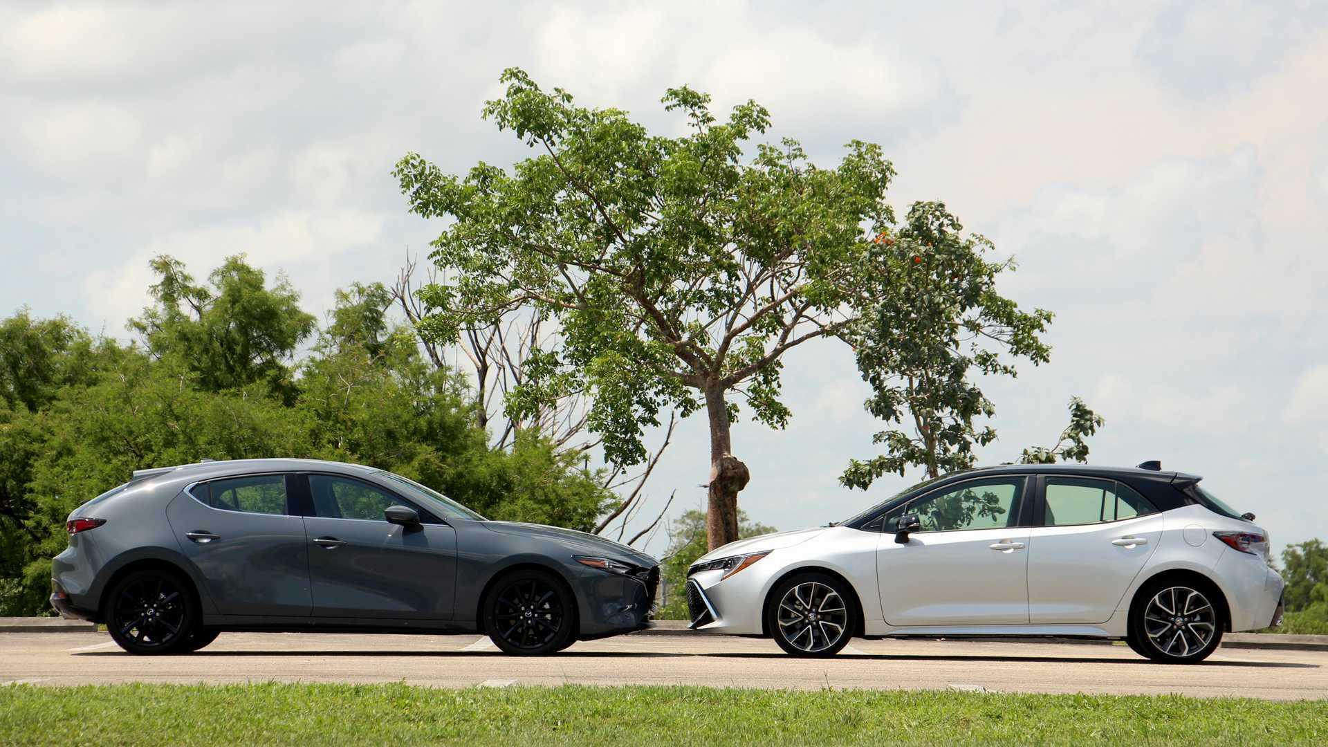Mazda3 Vs Toyota Corolla Hatchback Comparison Two Fantastic Five Doors