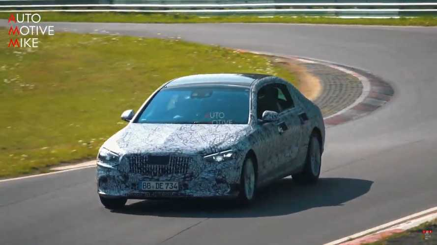 Mercedes-Maybach S-Class Spied All Stretched Out At The Nurburgring
